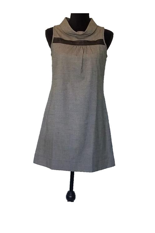 Vintage Grey & Black Dress