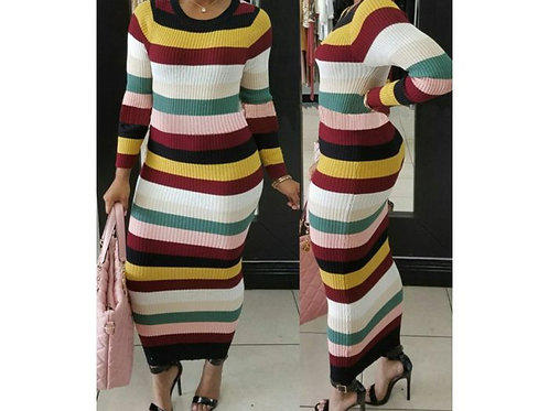 Multi-Color Stripped Dress