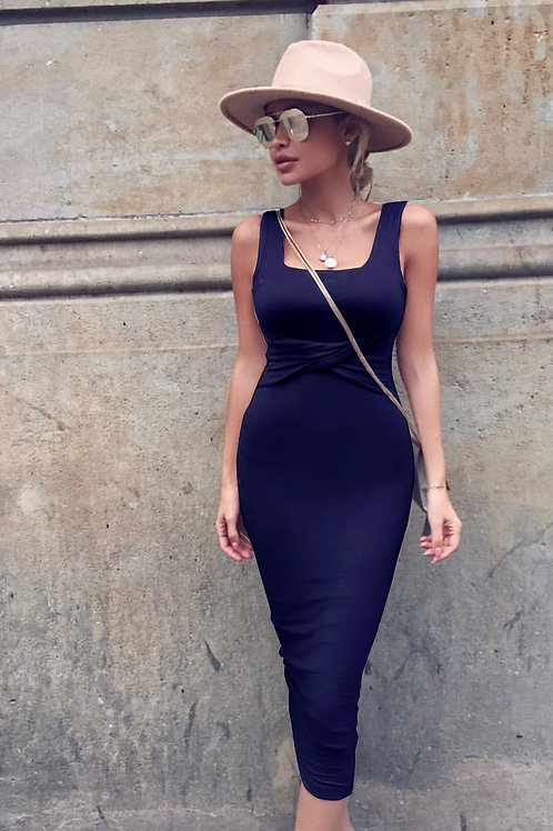 Solid Bodycon Summer Dress