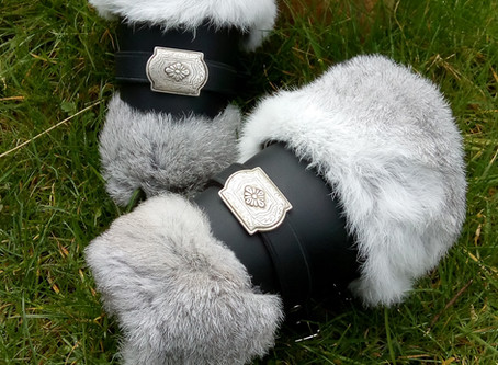 The beauty of English Rabbit Fur pelts in LARP costumes
