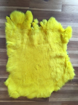 1 x Lemon yellow Fur Pelt
