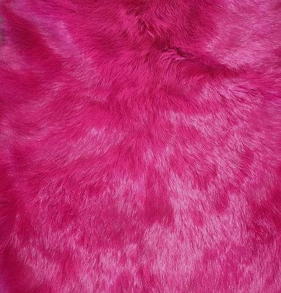 1x Fuchsia Fur Pelt