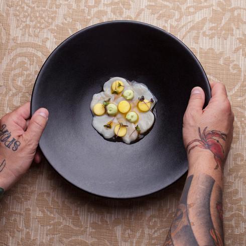 Coquille ceviche & citrus-dashi