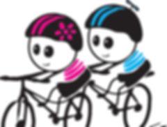 Niños en bici Logo Vixi Escuela