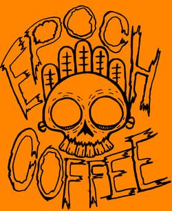 Epoch skull shirt idea (bLACK ON Orange)