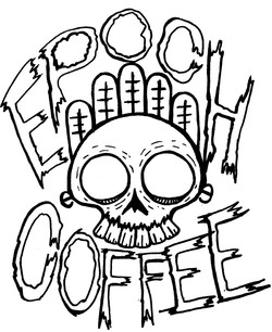 Epoch skull shirt idea (BLACK ON WHITE).
