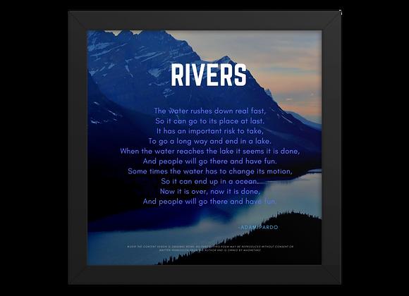 """Rivers"" Framed Poster"