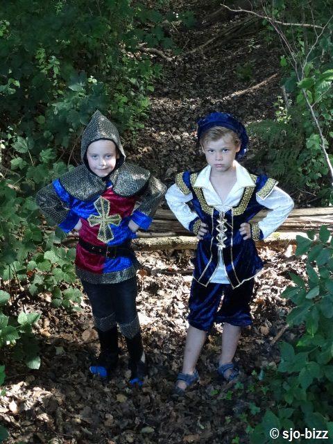 Fotoshoot ridder en prins