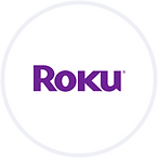 Roku purple logo, Click to get more information from PBS.org on how to connect to PBS Video via your ROKU