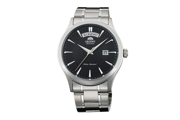 Orient Union Day Date Black Dial Automatic Watch FEV0V001BH