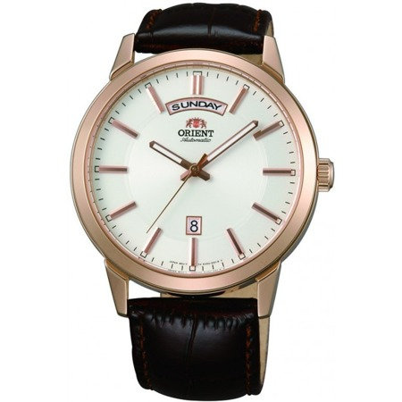 Orient Day Date White Dial Automatic Watch FEV0U002WH