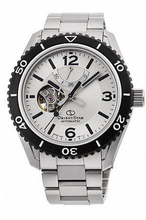 Orient Star Sports Open Heart White Dial Automatic Watch RE-AT0107S00B