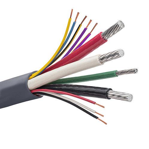 TCERJP Aluminum +2 Generator Wire #1 x 3, #6 x 1, #18 x 8  1000 ft. Roll