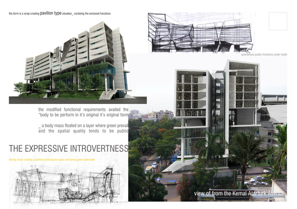 2nd Prize, 'The Expressive Introvertness',  Open Design Competition for Gulshan Club, 2011