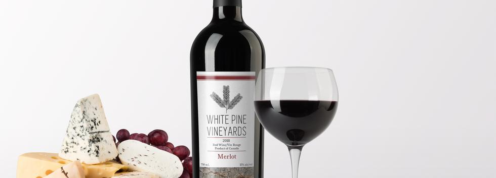 White Pines Merlot Bottle