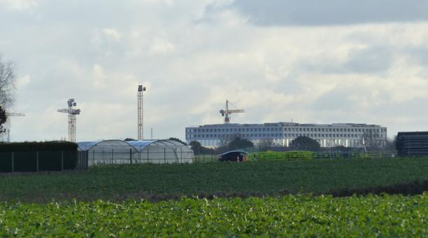 Photographie du plateau de Saclay