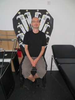 Christian in the Dr chair.JPG