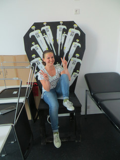 Delia in the Dr chair.JPG