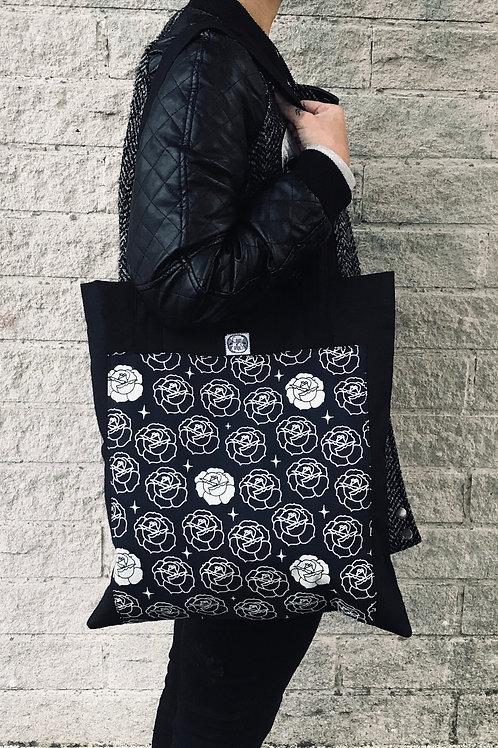 Tote bag - Rosas bl/ng