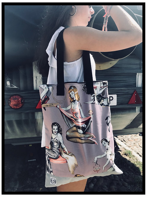 Tote bag - pin up zombie