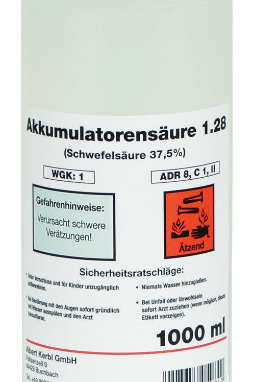 Acido para baterias 37,4% 1 lt