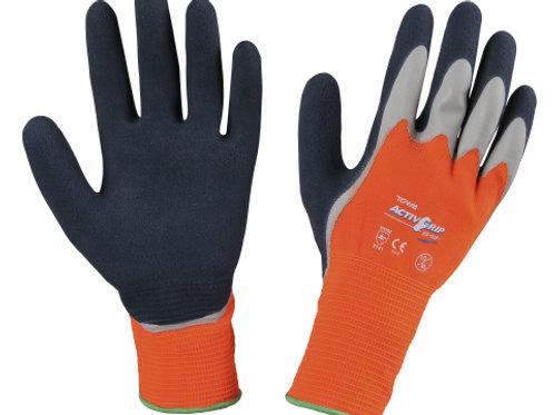 Guantes Activ Grip, naranja, doble latex T-10