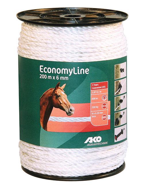 Cordón blanco 6x0,20 - 6mm, 200m E.Line