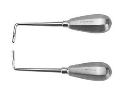 Elevador dental curvo, izquierdo