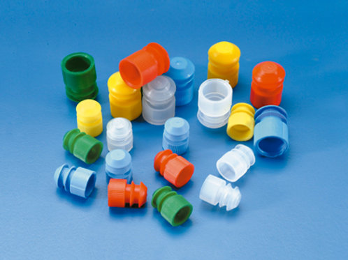 Tapón con solapa para tubos 15-17 mm. verde. 1000 uds.