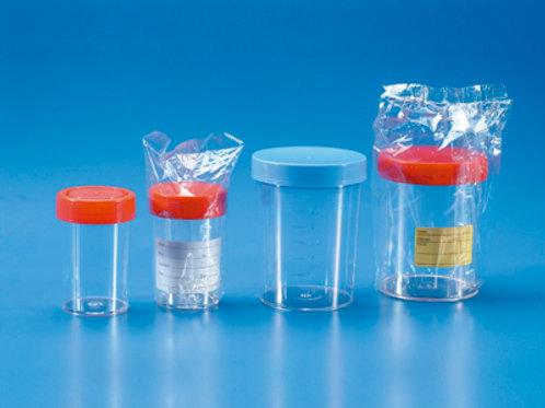 Envase PS, orina y muestras biológicas. Estéril. 60 ml. 400 uds.