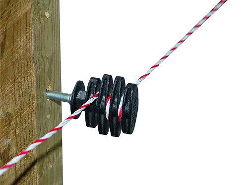 Aislado-tensor madera para alambre /hilo 25uds