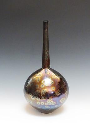 Vase with Sea Foam Purple Glaze