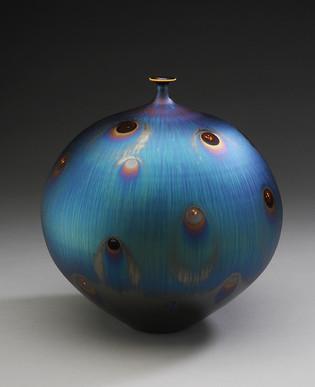 Vase with Peacock Glaze