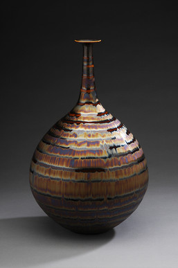 Vase with Purple and Brown Glaze
