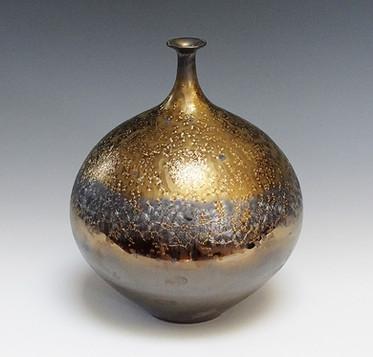 Vase with Black and Gold Glaze