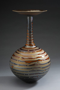 Vase with Gold and Brown Glazse