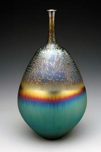 Vase with Three Glazes