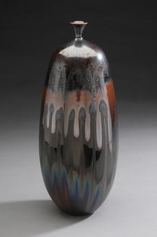 Iron Crystalline Vase