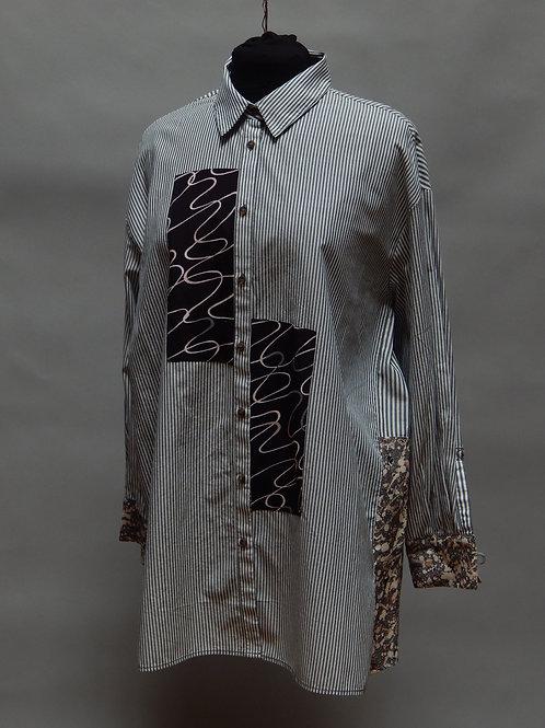 Striped Cotton Boyfriend Shirt