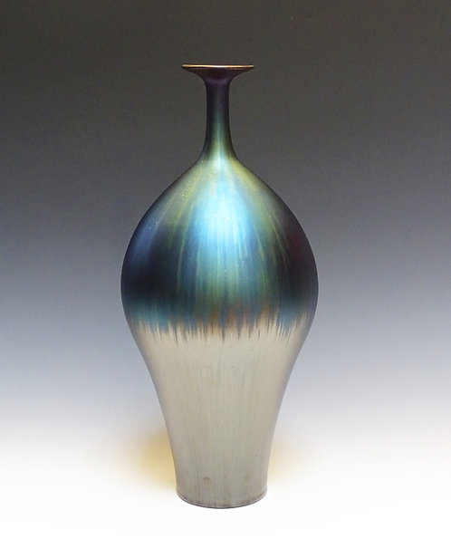 Vase with Blue Hare's Fur Glaze