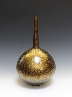 Vase with Gold Glaze