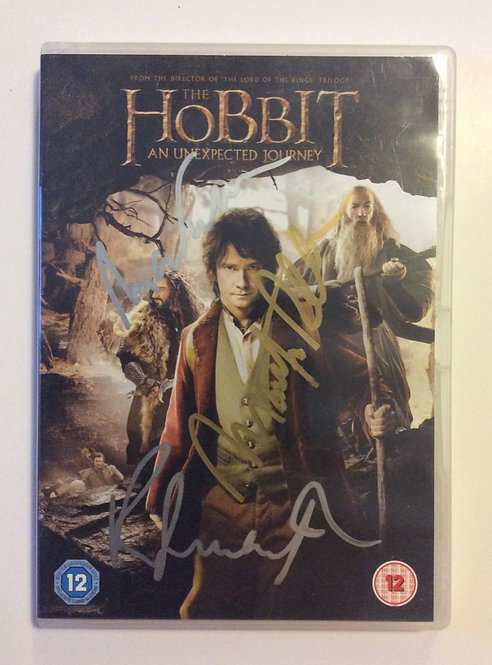 THE HOBBIT hand signed DVD cover TH29-F
