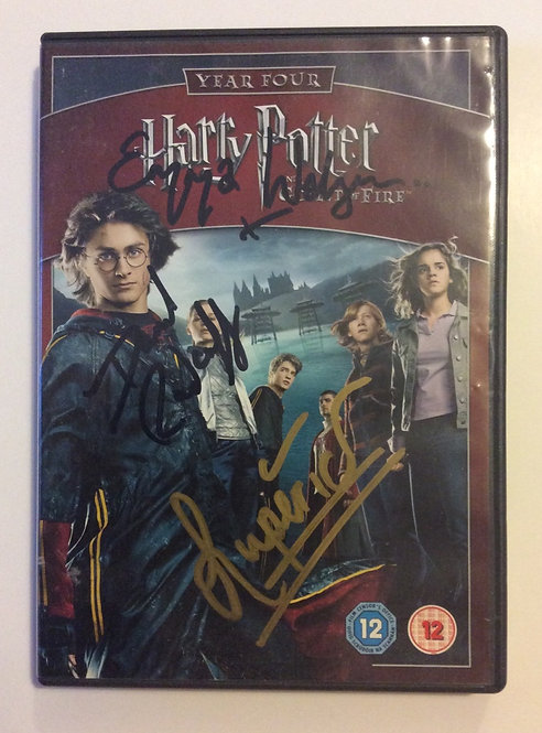 HARRY POTTER hand signed DVD HP44-A