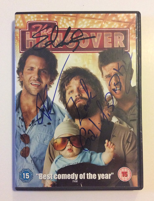 THE HANGOVER hand signed DVD TH8-J