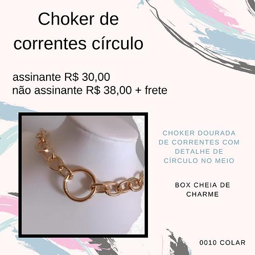 Choker de correntes círculo