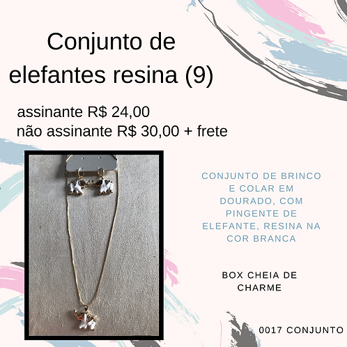 Conjunto de elefantes resina (9)