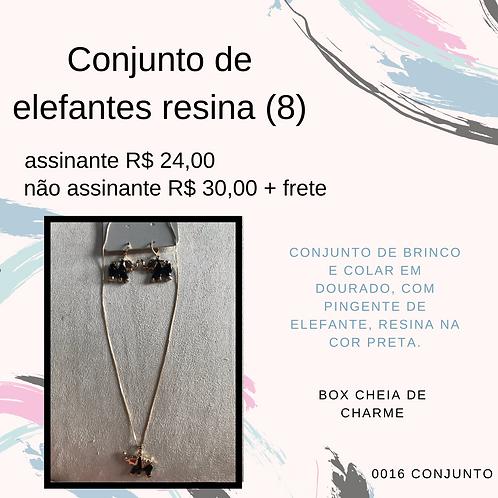 Conjunto de elefantes resina (8)