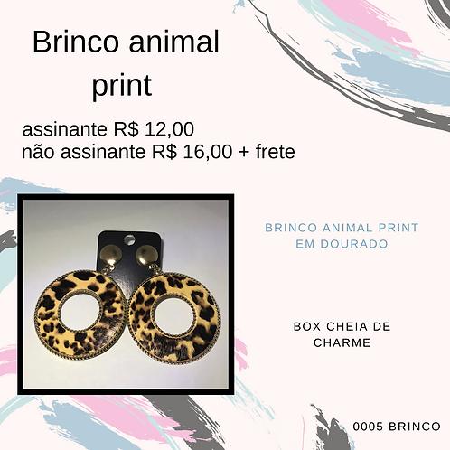 Brinco animal print