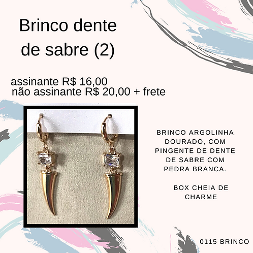 Brinco dente de sabre (2)