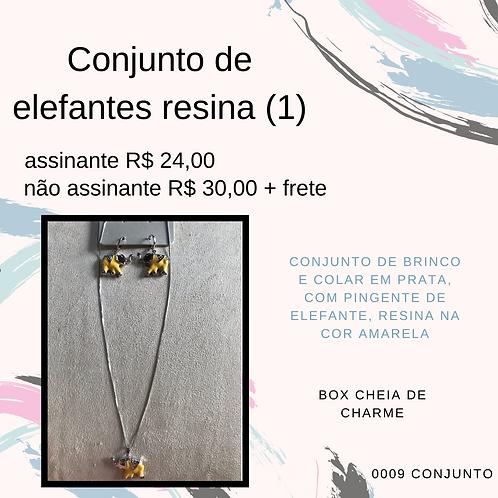 Conjunto de elefantes resina (1)